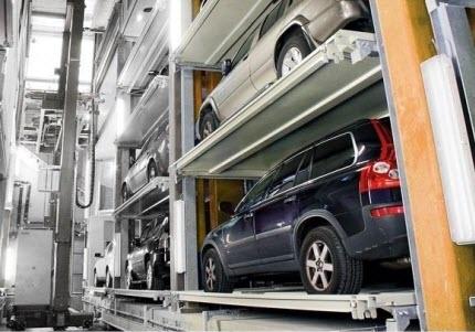 Hệ thống đỗ xe tự động - dạng xếp hình