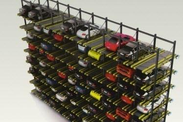 Hệ thống đỗ xe tự động - dạng xoay vòng tầng