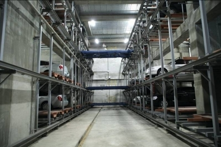 Hệ thống đỗ xe tự động - dạng tầng di chuyển